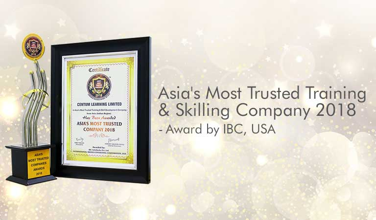 Most Trusted Training Company Award